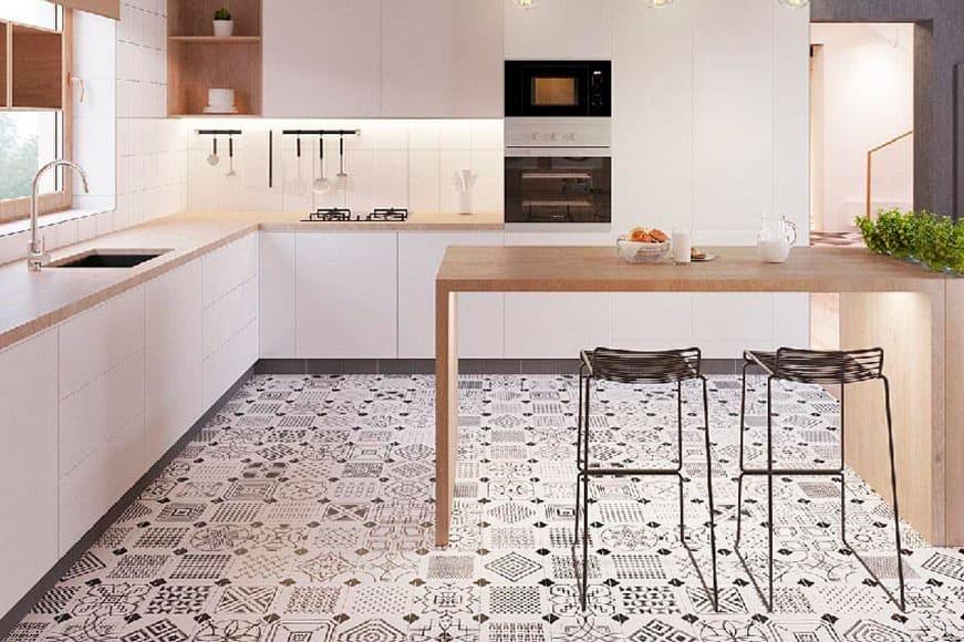 Какую плитку приобрести для кухонного пола